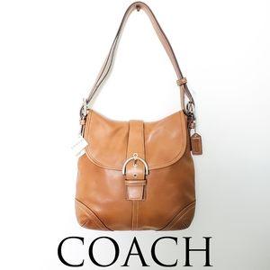Coach NWT Tan Leather Soho Flap Bag